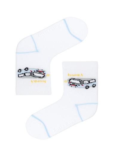 Katia & Bony Araba Desenli 2Li Bebek Soket Çorap  Gri
